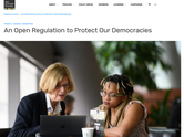 An Open Regulation to Protect Our Democracies