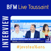 [VIDEO - Interview] Live Toussaint - Vote à 16 ans